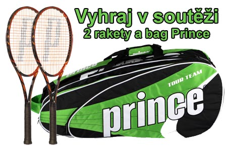 Soutěž o 2 tenisové rakety a bag Prince