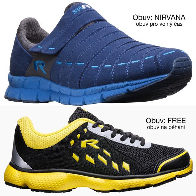 """superlehké sportovní boty značky """"R"""""""